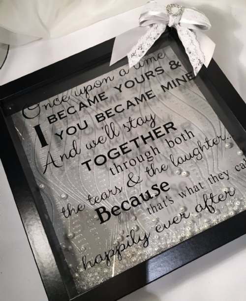 Once Upon a time keepsake frame